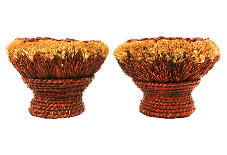 Chinese Broom Baskets, S/2