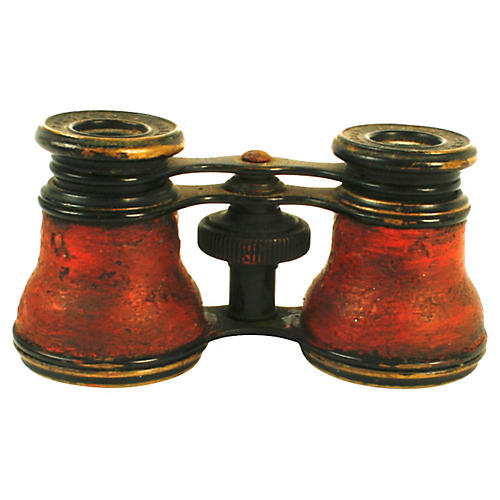 Lemaire Paris Red Leather Opera Glasses