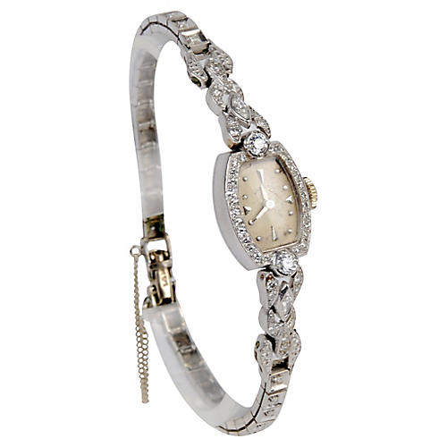 Hamilton Platinum & Diamond Watch