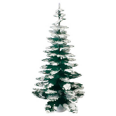 A Small Flocked Pine Tree