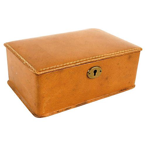 Butterscotch Leather Jewelry Box