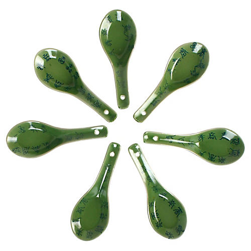 Japanese Shuji Soup Spoons, Set of 6