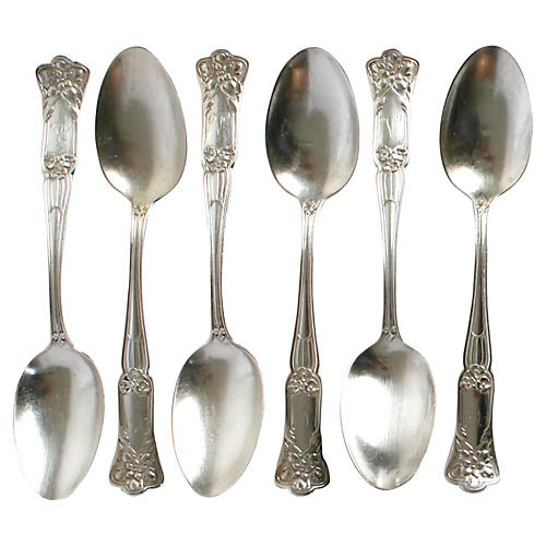 Gorham Sterling Silver Teaspoons, S/6