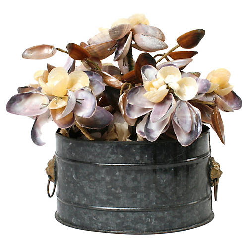 Shell Floral Bouquet in Cachepot