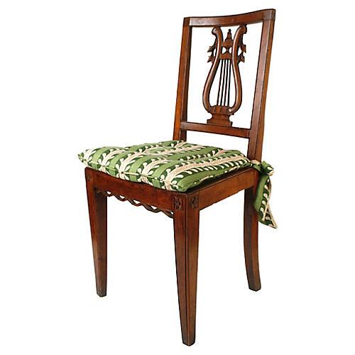 Harp-Back Chair w/ Rush Seat