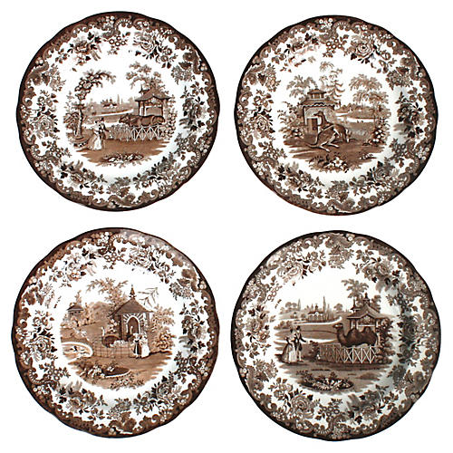 Spode Zoo Archive Collection Plates, S/8