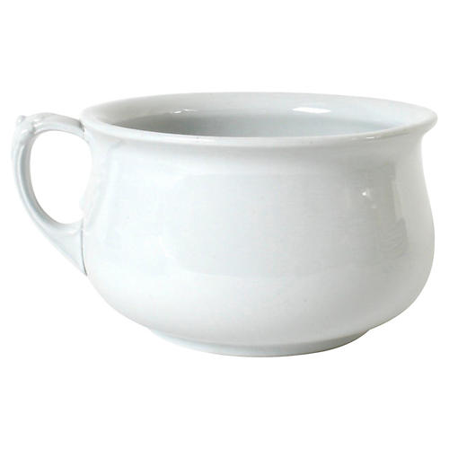 Pearl Grey Ironstone Chamber Pot