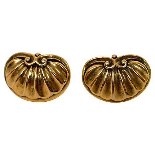 MMA Gold-Plated Shell Earrings