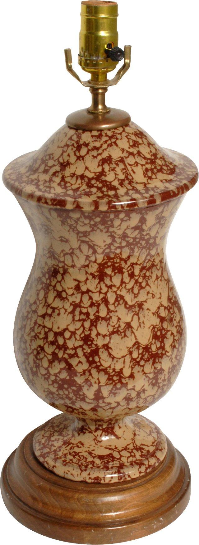 Bennington-Style Spatterware Lamp