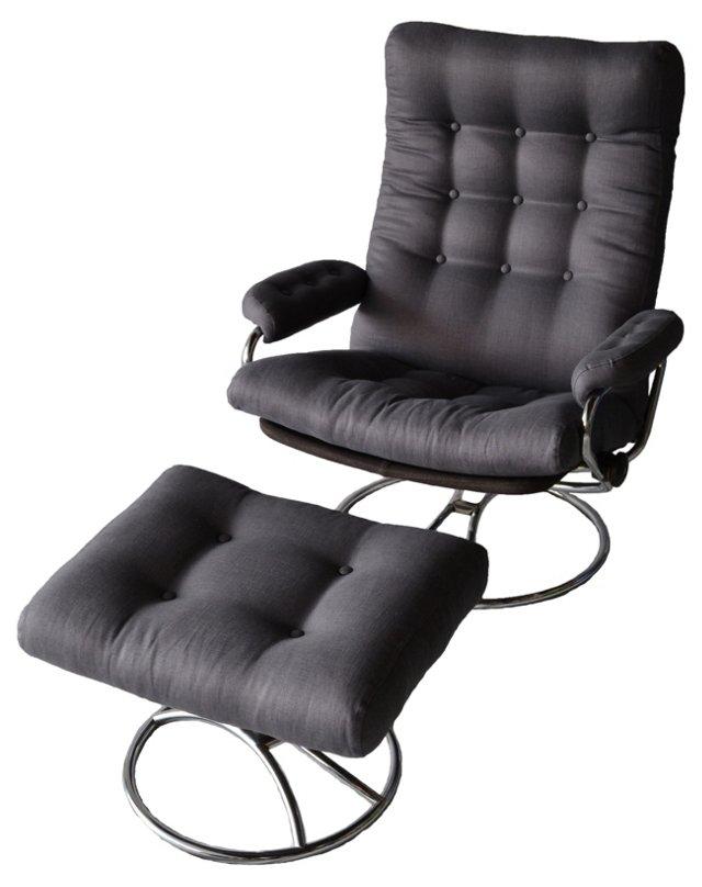 Norwegian Chair & Ottoman by Ekornes