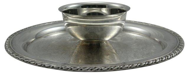 Silverplate Serving Dish w/ Bowl