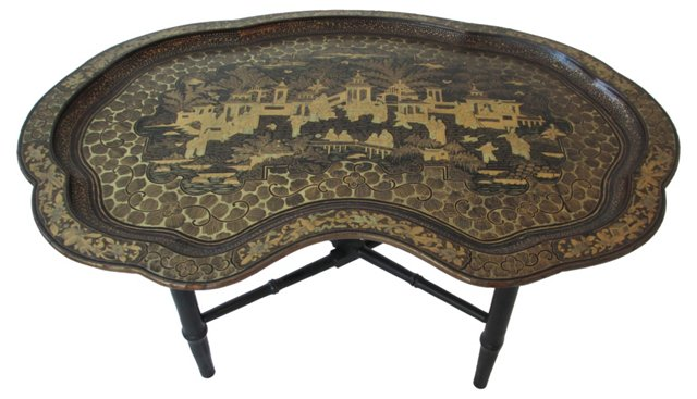Antique Chinoiserie Tray Table