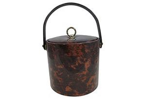 Briard Faux-Tortoise Ice Bucket