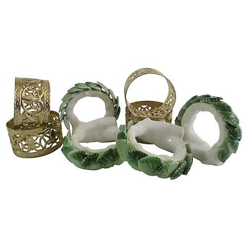 Mixed Napkin Rings, S/8