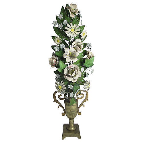 1920s French Tole Topiary
