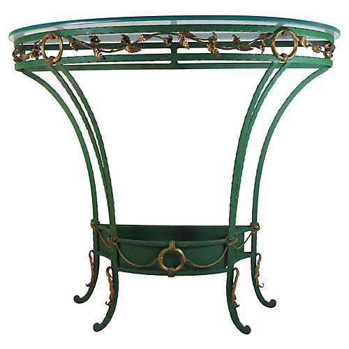 Palladio Italy Demilune Plant Table
