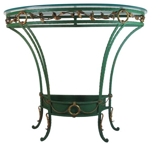 321c43a162b9 Palladio Italy Demilune Plant Table - Plant Stands - Pedestals ...