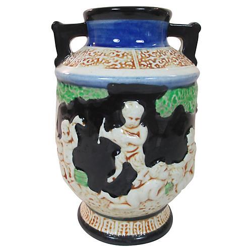 Hand-Painted Japanese Vase, C.1920