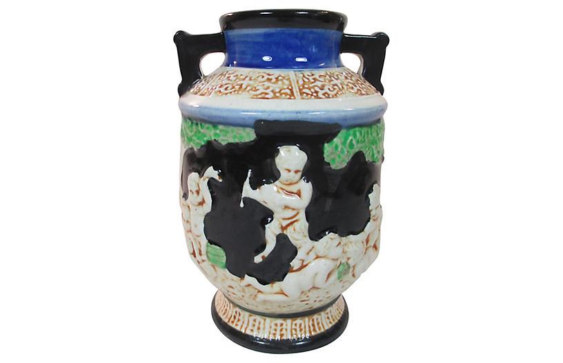 Hand Painted Japanese Vase C1920 Pamela Adler Serial Curiosity