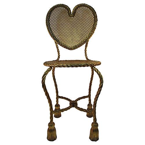 Italian Gilded Rope & Tassel Chair