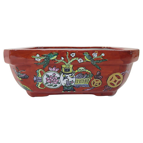 Chinese Hand-Painted Porcelain Bulb Bowl