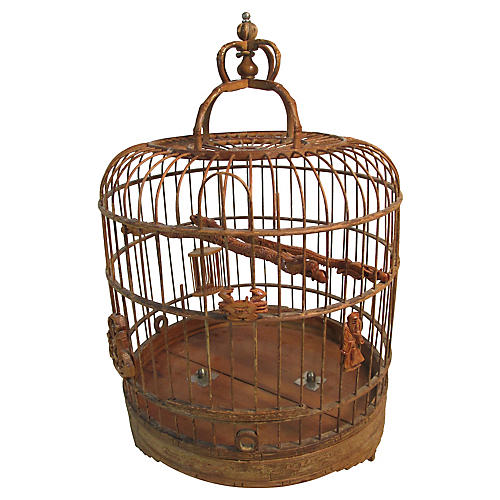 1920s Chinese Tabletop Birdcage