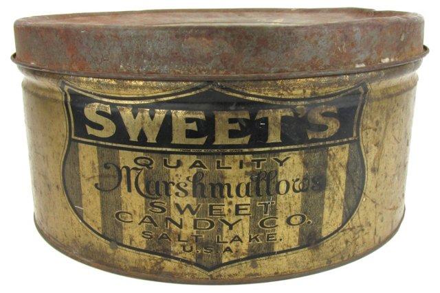 Antique Marshmallow Tin