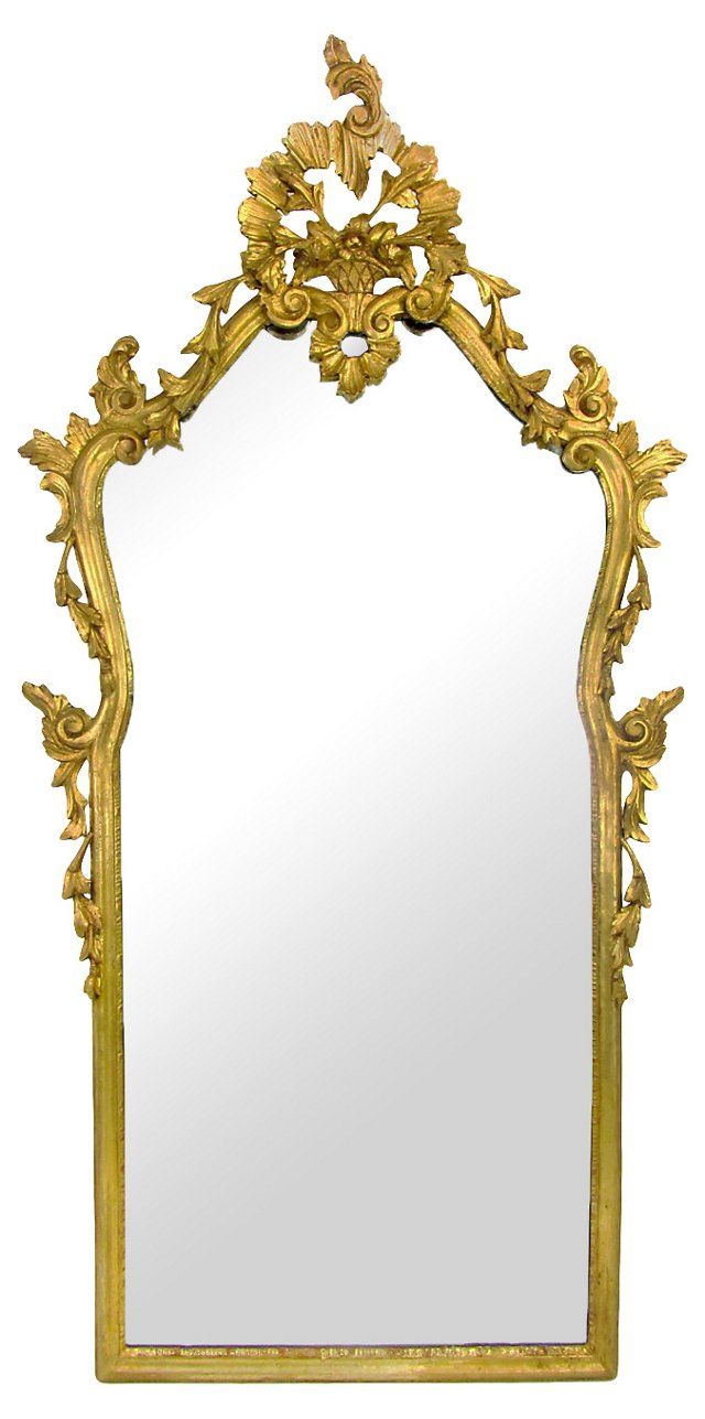 Carved Giltwood Florentine Mirror
