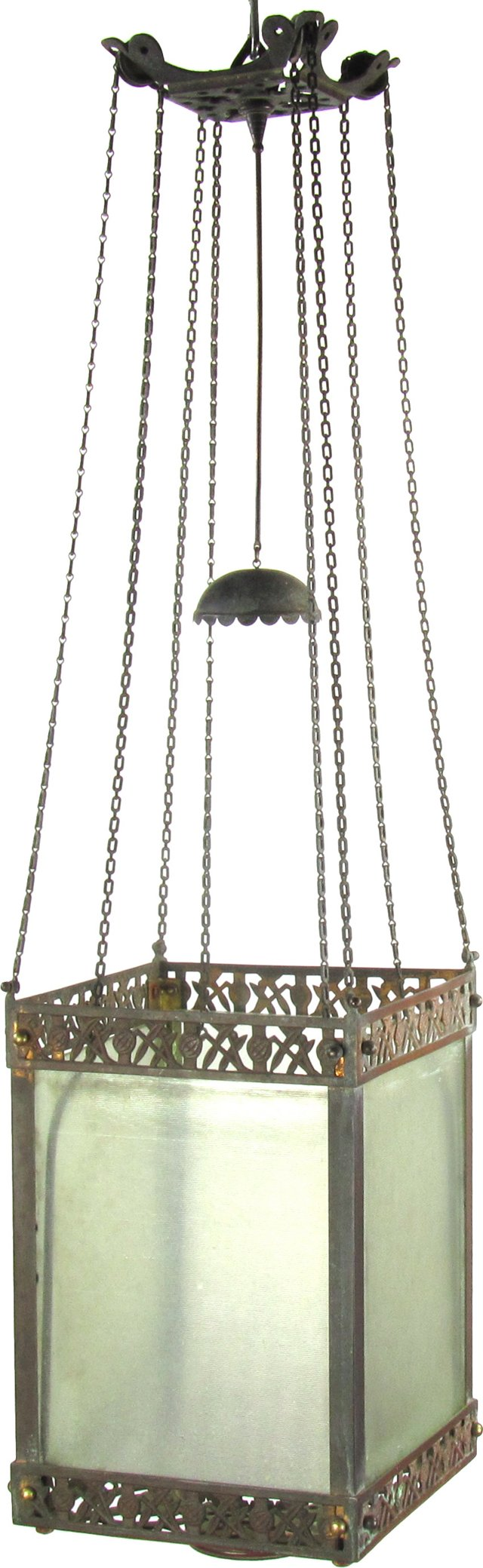 19th-C. Lantern w/ Chain Mechanism