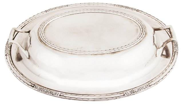 Lidded Silver Vegetable Dish