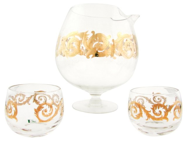 Cera Cocktail Pitcher & 2 Glasses