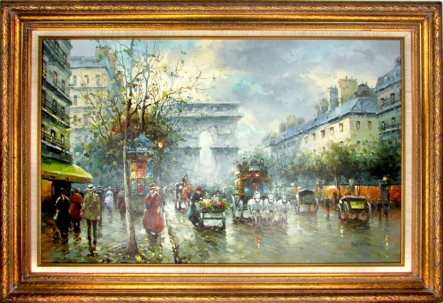 Paris Street Scene by J. Gaston