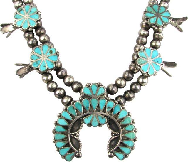 Dishta-Style Squash Blossom Necklace