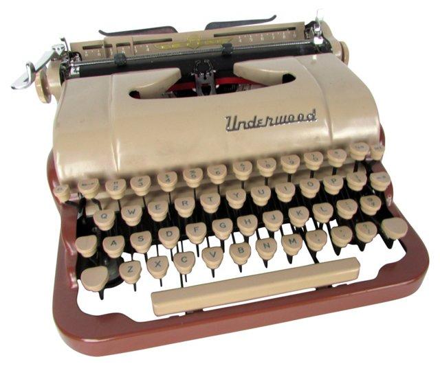 Two-Tone Underwood Typewriter