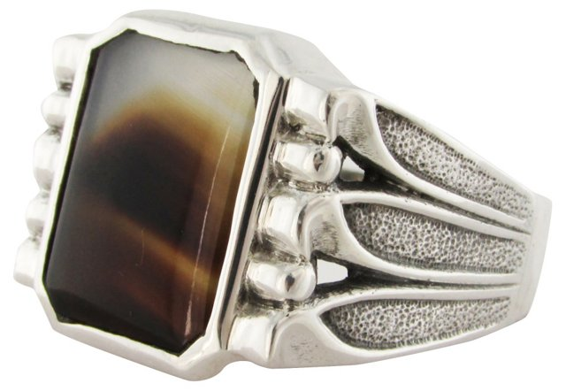 Sterling & Agate Ring