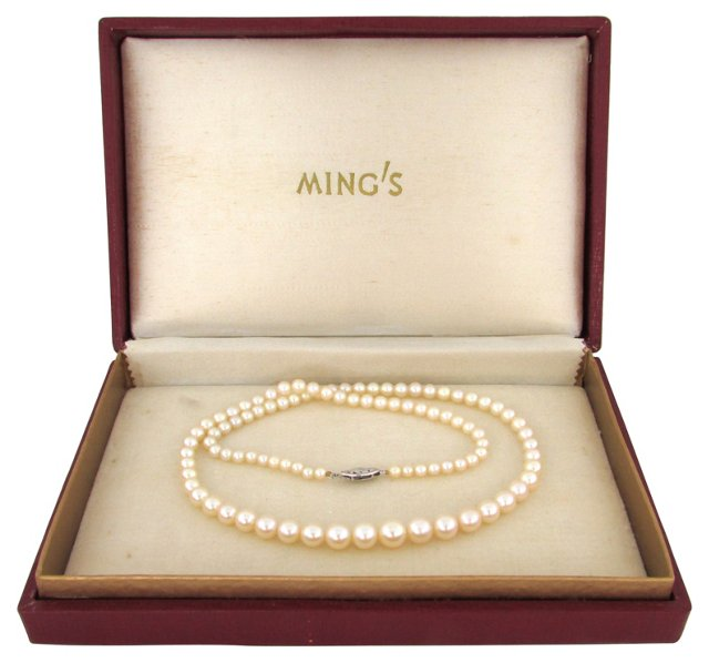 Ming's Cultured Pearl Necklace