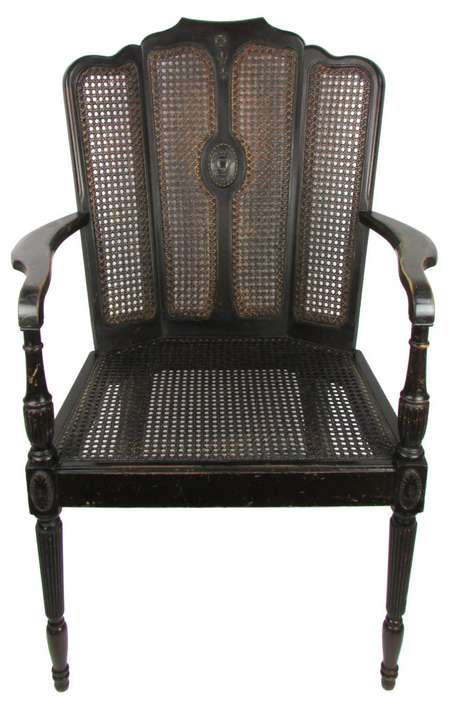 Antique Caned Federal-Style Chair
