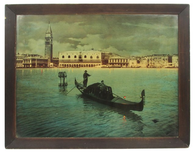 Hand-Tinted Photo of Venice