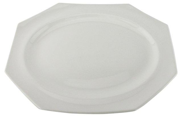 White Ironstone Platter