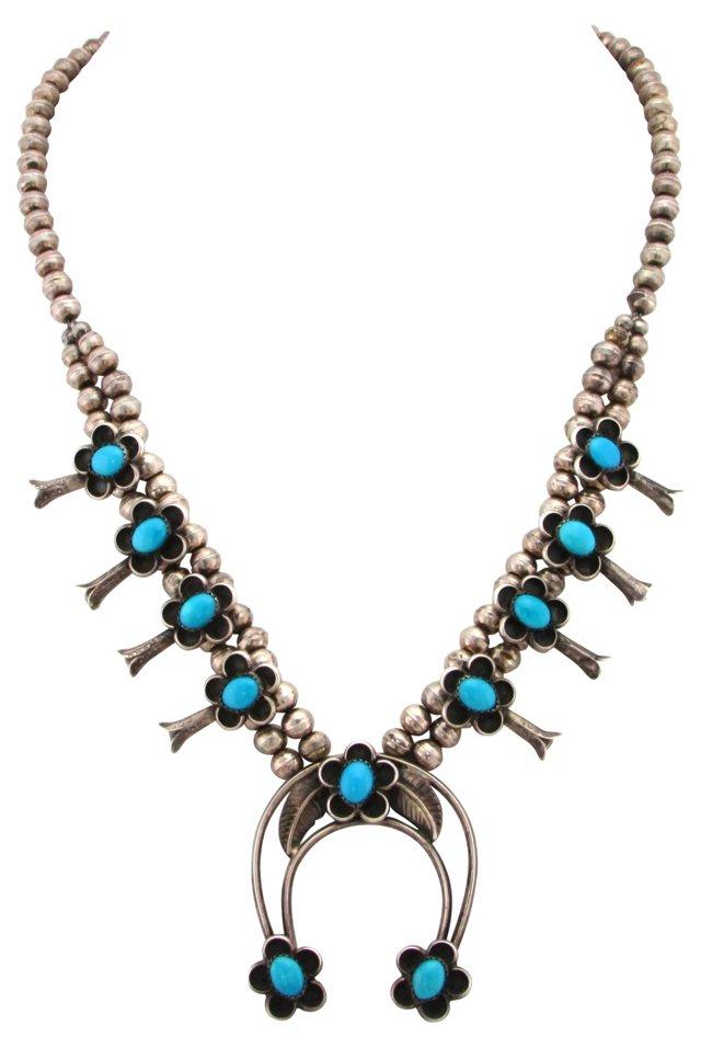 Petite Squash Blossom Necklace