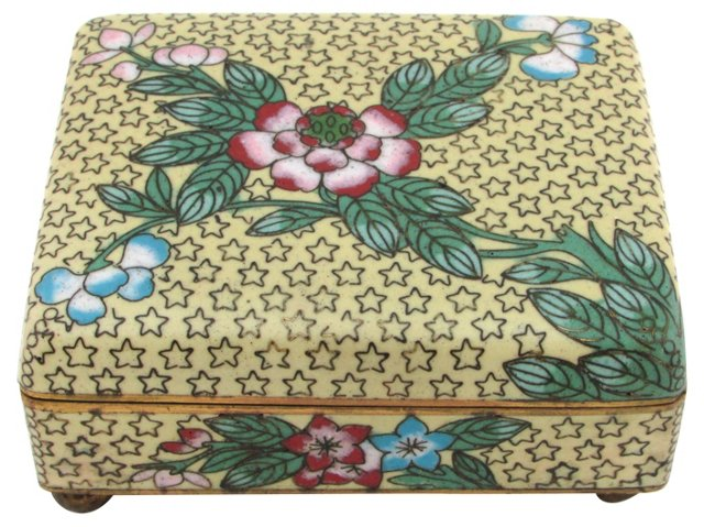 Antique Cloisonné Box w/ Stars