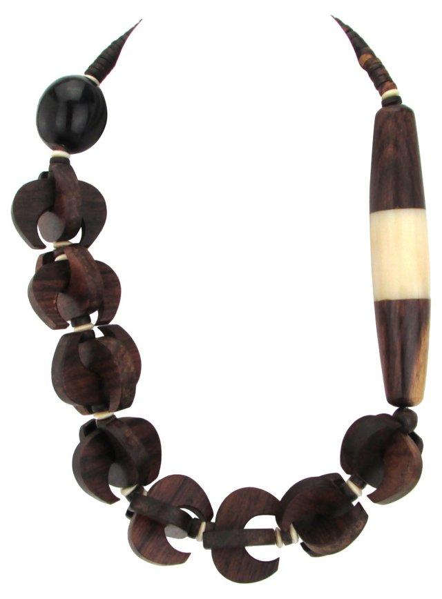 Tribal Wood & Bone Necklace