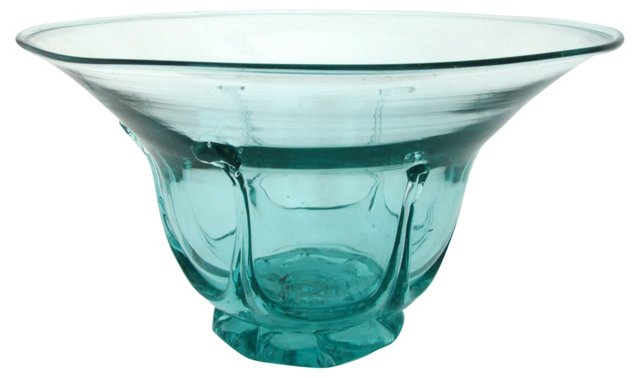Aqua Art Glass Bowl