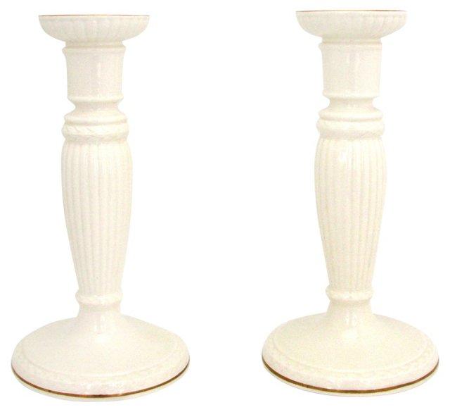 Wedgwood Etruria Candleholders, Pair