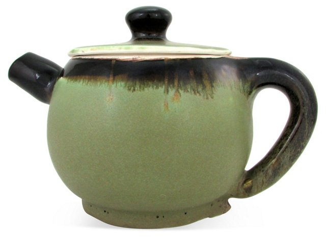 Hand-Thrown Porcelain Teapot