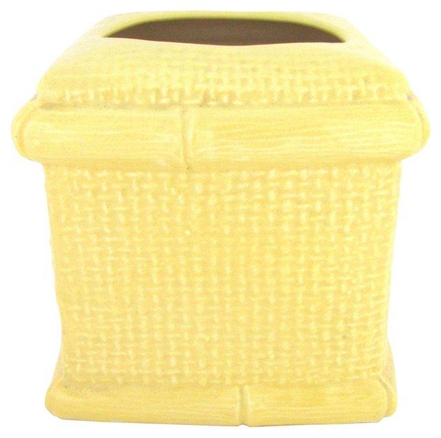 Ceramic Bamboo-Style Tissue Caddy