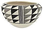 Graphic Acoma Bowl by Sarah Garcia