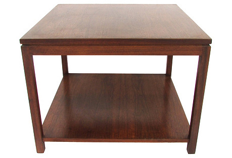Midcentury  Walnut Side Table