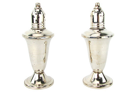 Sterling Silver Salt & Pepper Urns