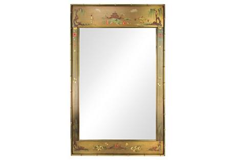 Brass Chinoiserie Mirror